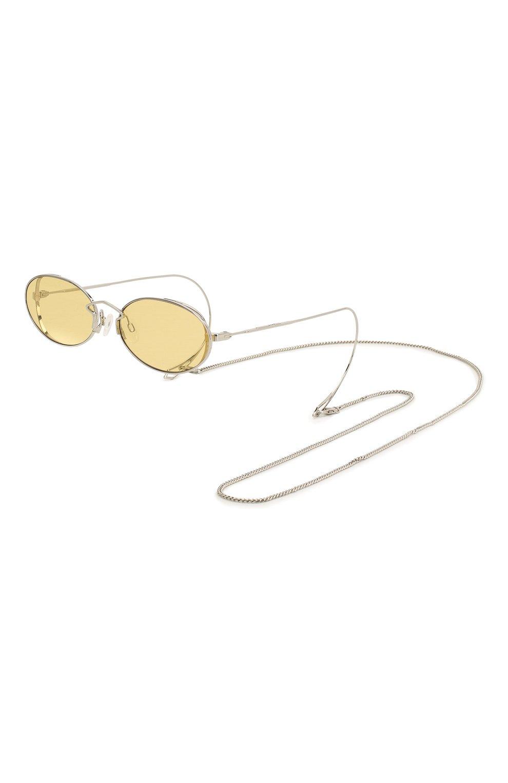 Женские солнцезащитные очки MCQ SWALLOW желтого цвета, арт. MQ0272SA 002   Фото 1 (Тип очков: С/з; Оптика Гендер: оптика-женское; Очки форма: Овальные)