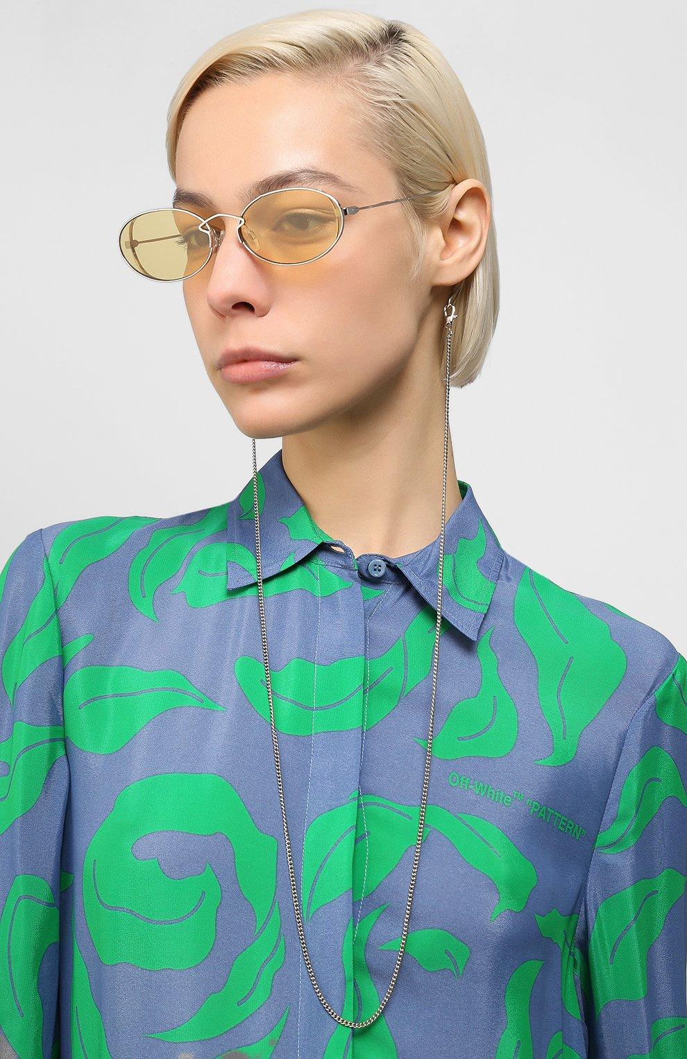 Женские солнцезащитные очки MCQ SWALLOW желтого цвета, арт. MQ0272SA 002   Фото 2 (Тип очков: С/з; Оптика Гендер: оптика-женское; Очки форма: Овальные)