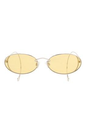 Женские солнцезащитные очки MCQ SWALLOW желтого цвета, арт. MQ0272SA 002   Фото 4 (Тип очков: С/з; Оптика Гендер: оптика-женское; Очки форма: Овальные)