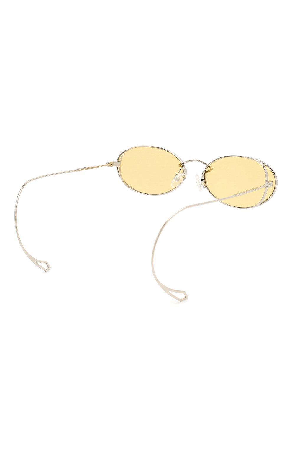 Женские солнцезащитные очки MCQ SWALLOW желтого цвета, арт. MQ0272SA 002   Фото 5 (Тип очков: С/з; Оптика Гендер: оптика-женское; Очки форма: Овальные)