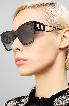 Женские солнцезащитные очки DIOR черного цвета, арт. 30M0NTAIGNE1 807 1I | Фото 2