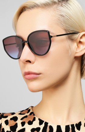 Женские солнцезащитные очки DIOR черного цвета, арт. S0STELLAIRE4 807 | Фото 2