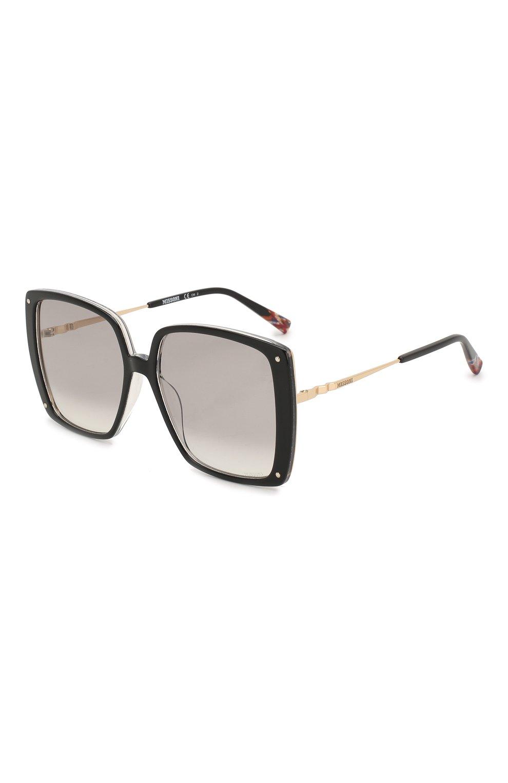 Женские солнцезащитные очки MISSONI черного цвета, арт. MIS0002 807 | Фото 1