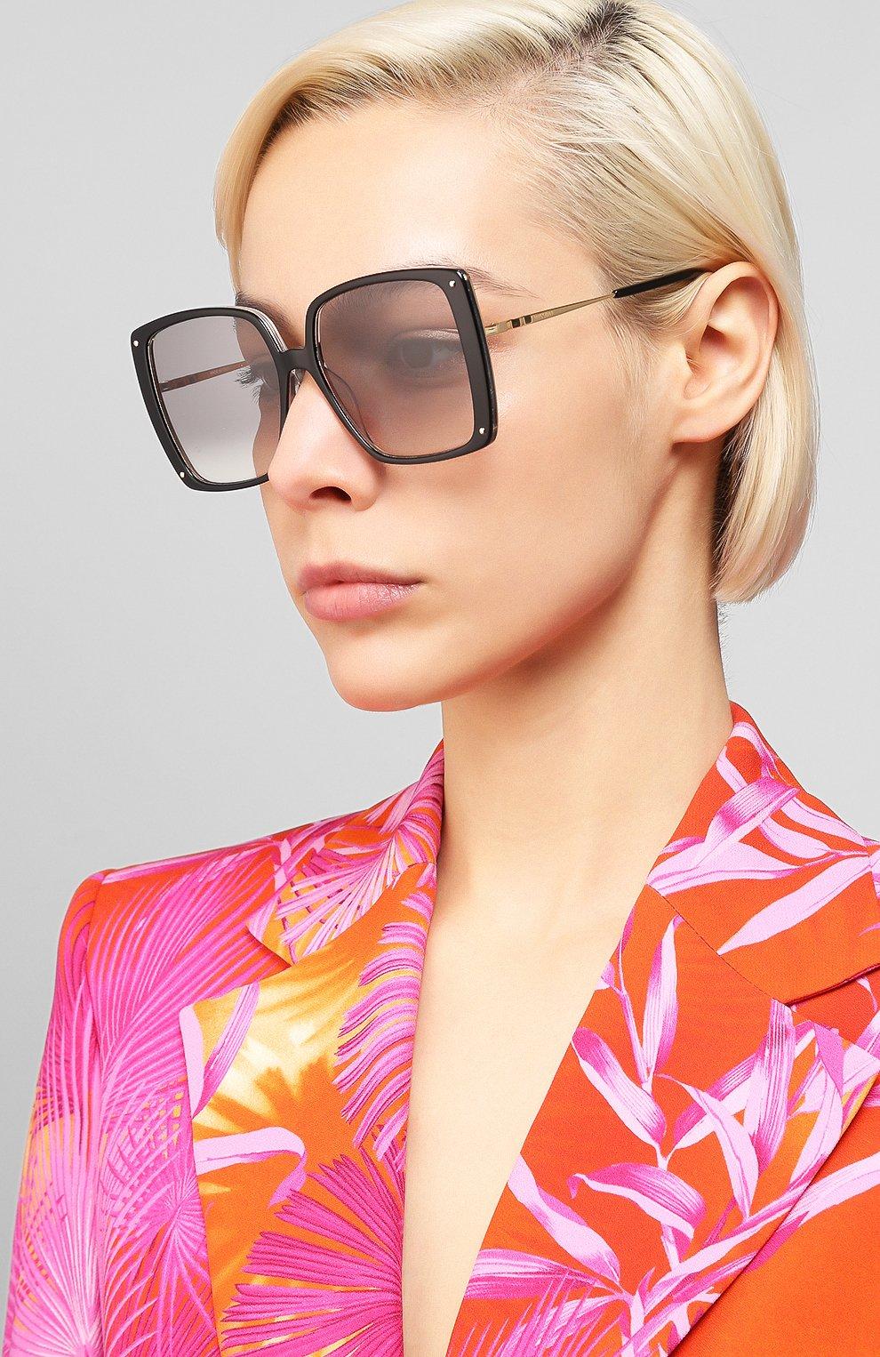 Женские солнцезащитные очки MISSONI черного цвета, арт. MIS0002 807 | Фото 2