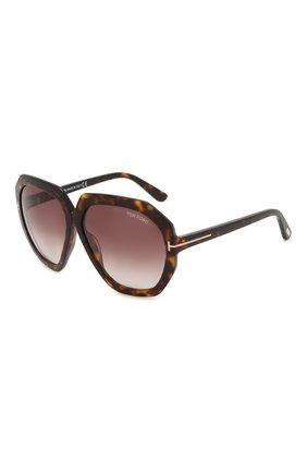 Женские солнцезащитные очки TOM FORD коричневого цвета, арт. TF791 52T | Фото 1
