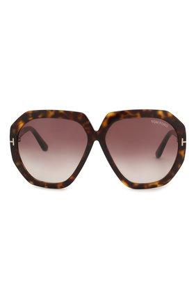 Женские солнцезащитные очки TOM FORD коричневого цвета, арт. TF791 52T | Фото 3