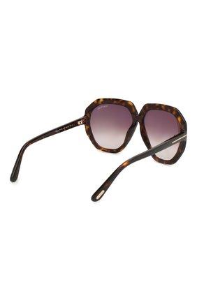 Женские солнцезащитные очки TOM FORD коричневого цвета, арт. TF791 52T | Фото 4