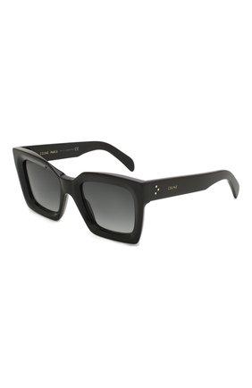 Женские солнцезащитные очки CELINE EYEWEAR черного цвета, арт. CL40130I 01B | Фото 1