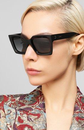 Женские солнцезащитные очки CELINE EYEWEAR черного цвета, арт. CL40130I 01B | Фото 2