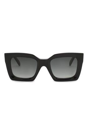 Женские солнцезащитные очки CELINE EYEWEAR черного цвета, арт. CL40130I 01B | Фото 3