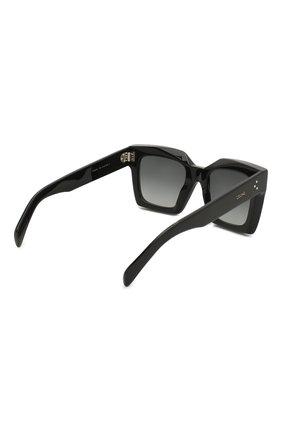 Женские солнцезащитные очки CELINE EYEWEAR черного цвета, арт. CL40130I 01B | Фото 4