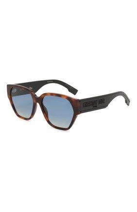 Женские солнцезащитные очки DIOR коричневого цвета, арт. DI0RID1 086   Фото 1