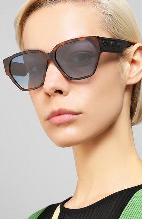 Женские солнцезащитные очки DIOR коричневого цвета, арт. DI0RID1 086   Фото 2