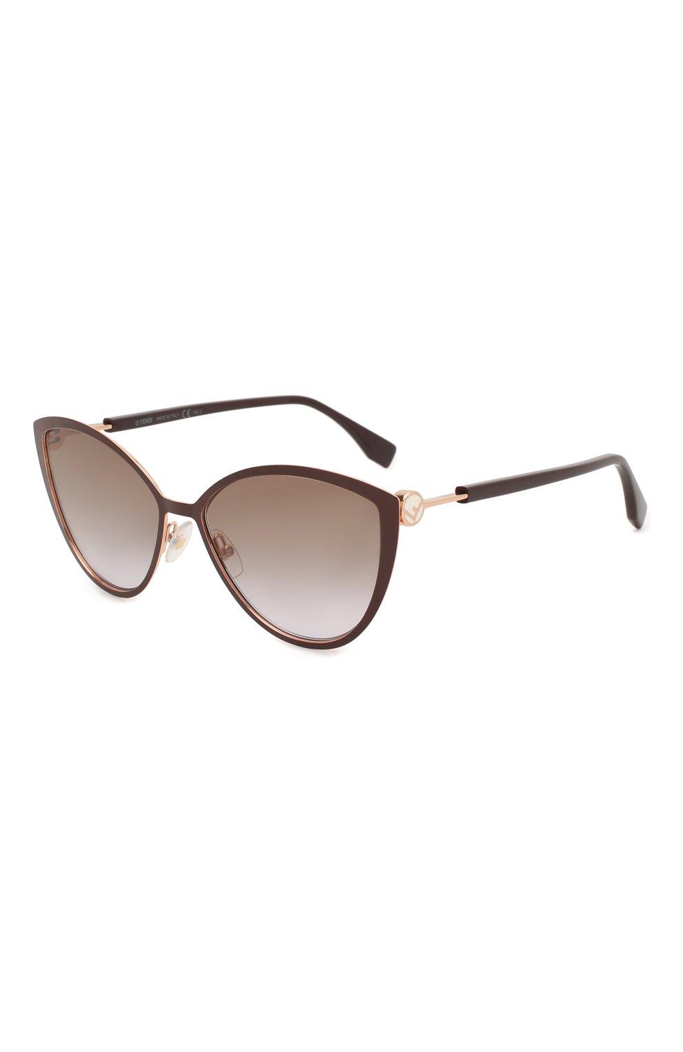 Женские солнцезащитные очки FENDI бордового цвета, арт. 0413 FG4 | Фото 1
