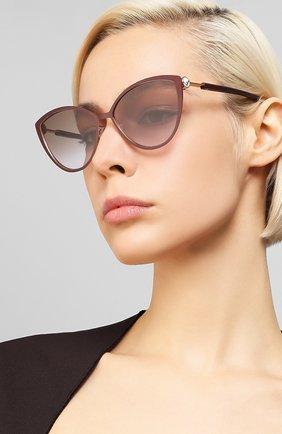 Женские солнцезащитные очки FENDI бордового цвета, арт. 0413 FG4 | Фото 2