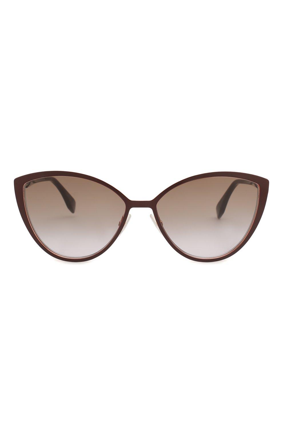 Женские солнцезащитные очки FENDI бордового цвета, арт. 0413 FG4 | Фото 3