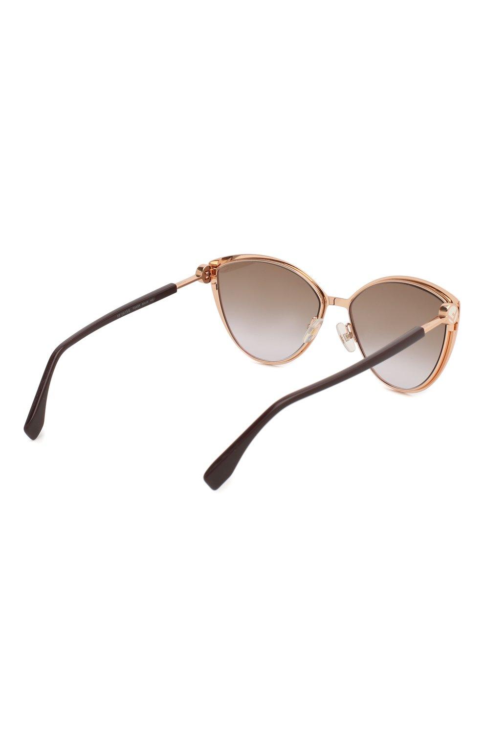 Женские солнцезащитные очки FENDI бордового цвета, арт. 0413 FG4 | Фото 4