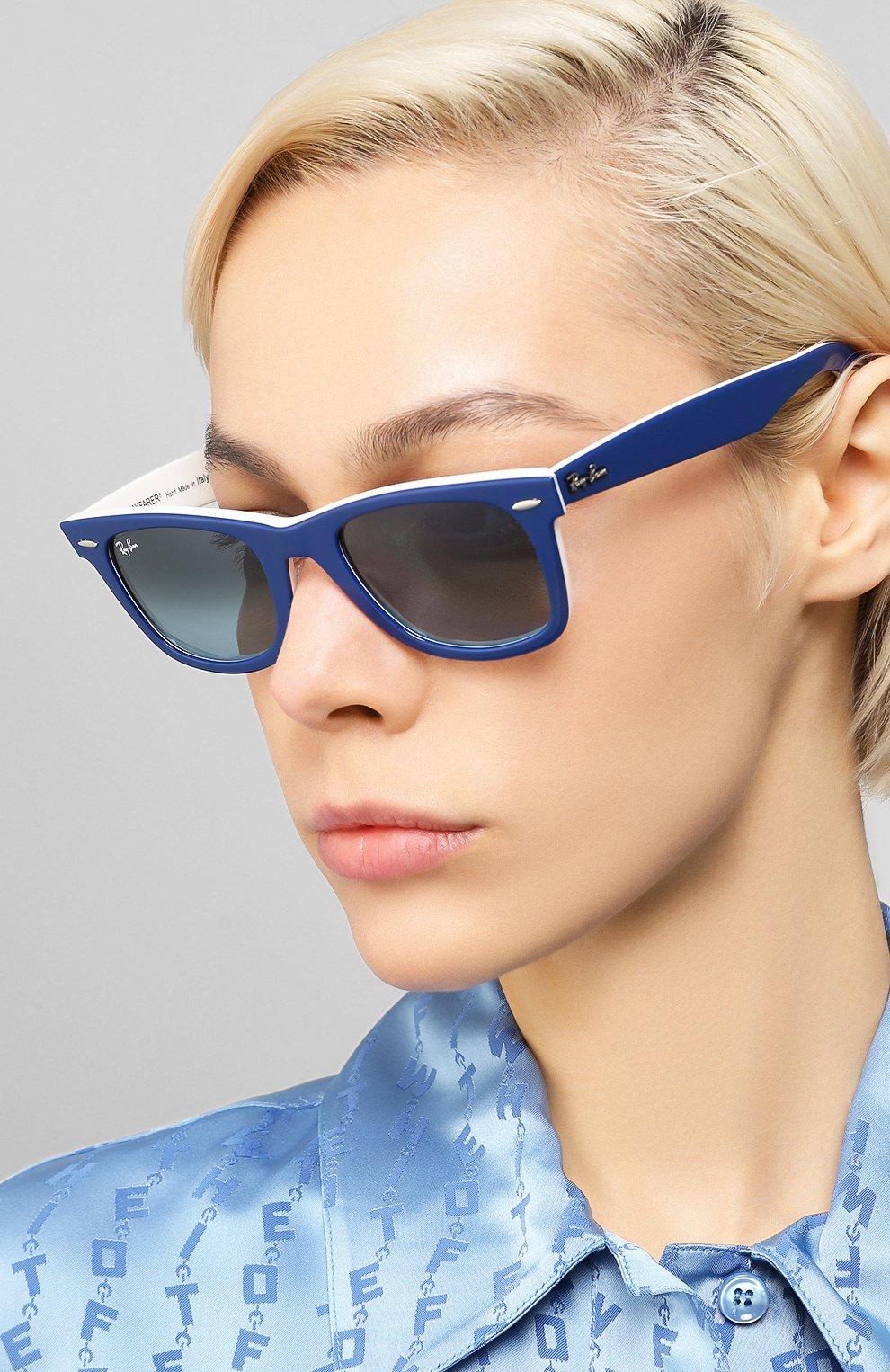 Женские солнцезащитные очки RAY-BAN синего цвета, арт. 2140-12993M | Фото 2
