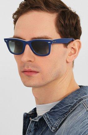 Женские солнцезащитные очки RAY-BAN синего цвета, арт. 2140-12993M | Фото 3