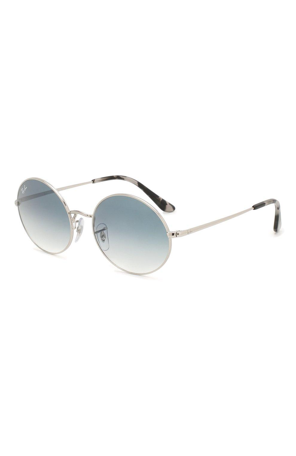 Женские солнцезащитные очки RAY-BAN голубого цвета, арт. 1970-91493F   Фото 1