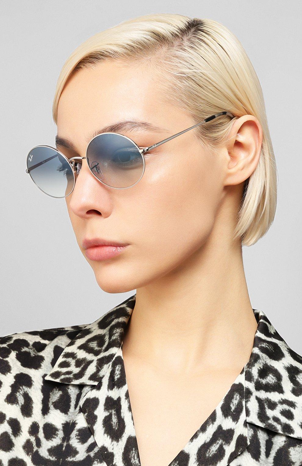 Женские солнцезащитные очки RAY-BAN голубого цвета, арт. 1970-91493F   Фото 2