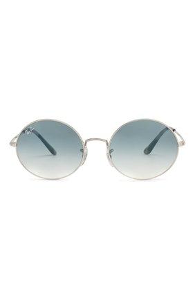 Женские солнцезащитные очки RAY-BAN голубого цвета, арт. 1970-91493F   Фото 4