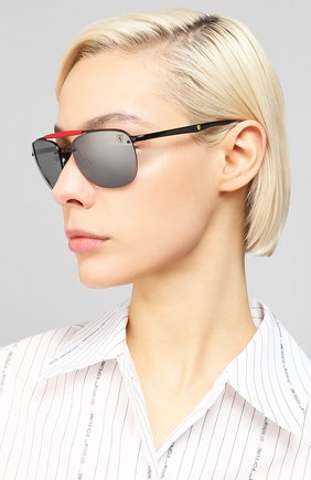 Женские солнцезащитные очки RAY-BAN черного цвета, арт. 3662M-F0026G | Фото 2
