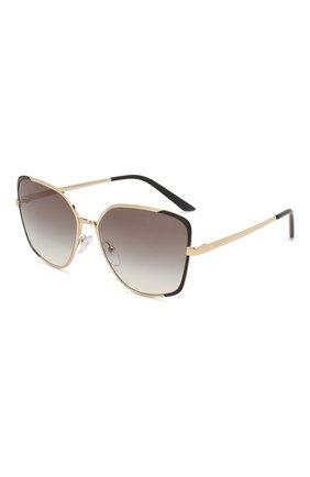 Женские солнцезащитные очки PRADA серого цвета, арт. 60XS-AAV0A7 | Фото 1 (Тип очков: С/з; Очки форма: Бабочка; Оптика Гендер: оптика-женское)