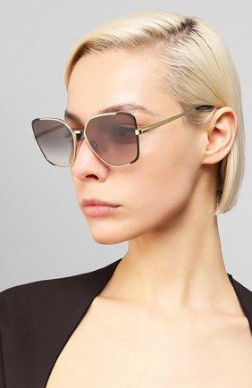 Женские солнцезащитные очки PRADA серого цвета, арт. 60XS-AAV0A7 | Фото 2 (Тип очков: С/з; Очки форма: Бабочка; Оптика Гендер: оптика-женское)