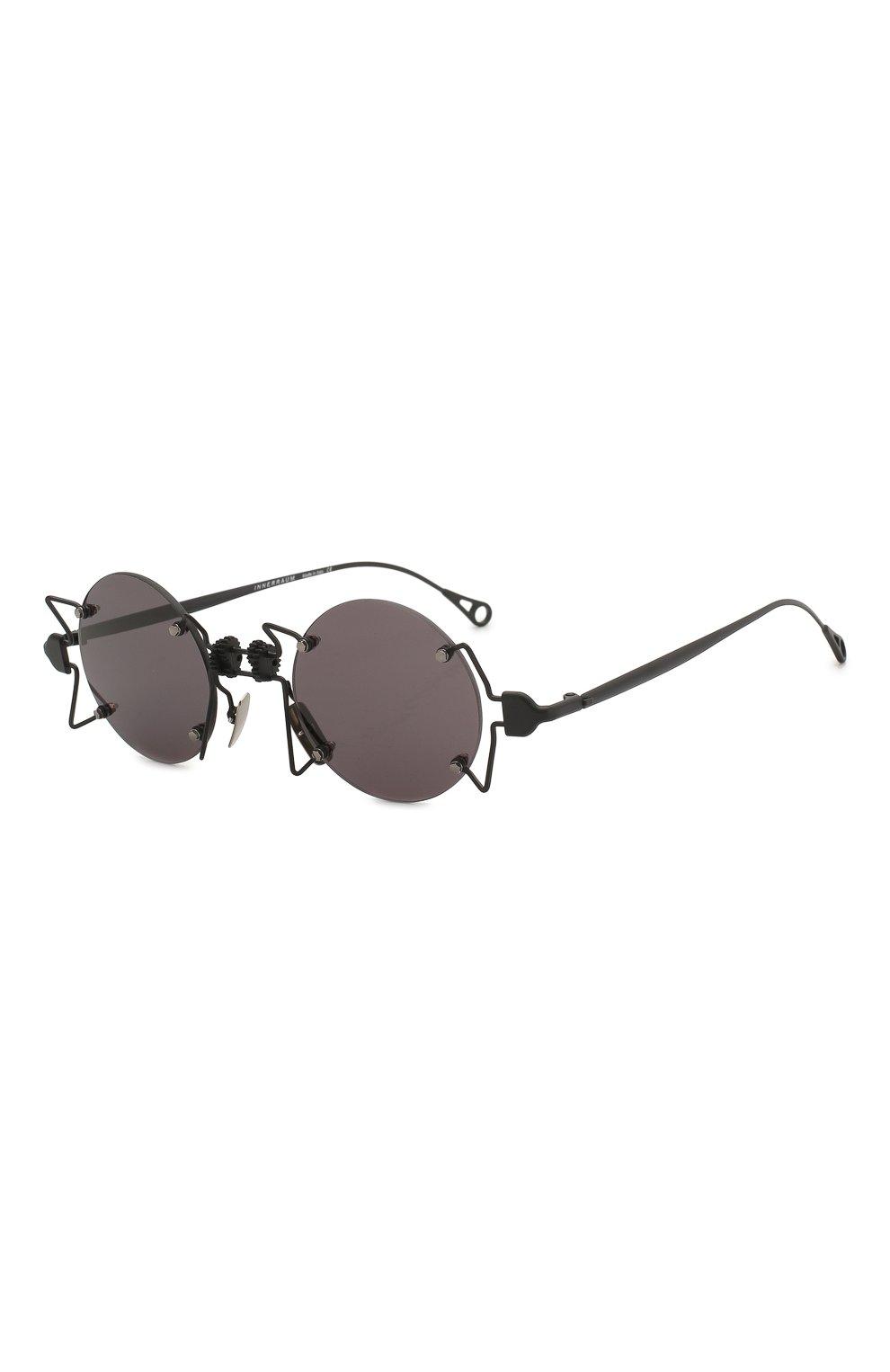 Женские солнцезащитные очки INNERRAUM черного цвета, арт. 098 BM GREY | Фото 1