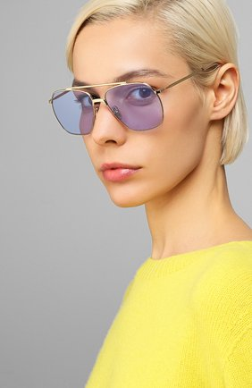 Мужские солнцезащитные очки ACNE STUDIOS голубого цвета, арт. C30007/W | Фото 2