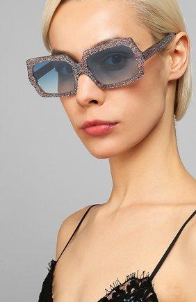 Мужские солнцезащитные очки ACNE STUDIOS голубого цвета, арт. C30005/W | Фото 2