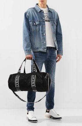 Мужская текстильная спортивная сумка GIVENCHY черного цвета, арт. BK506PK0B5 | Фото 2