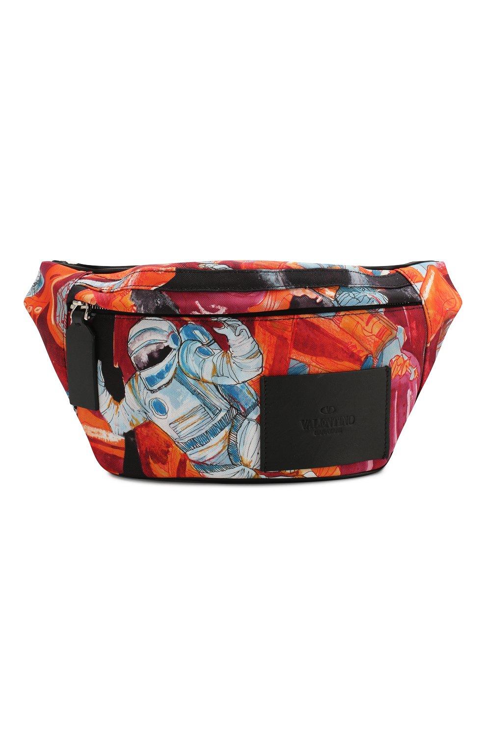 Мужская текстильная поясная сумка valentino garavani VALENTINO разноцветного цвета, арт. TY2B0904/EUG   Фото 1