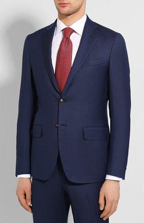 Мужской шерстяной костюм LUCIANO BARBERA темно-синего цвета, арт. 5L2014/25139 | Фото 2