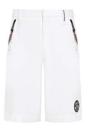 Мужские хлопковые шорты BURBERRY белого цвета, арт. 4559343 | Фото 1