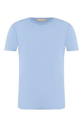 Мужская льняная футболка DANIELE FIESOLI голубого цвета, арт. DF 1235 | Фото 1