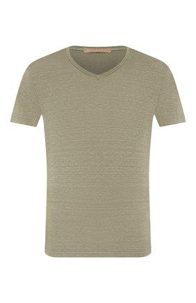 Мужская льняная футболка DANIELE FIESOLI хаки цвета, арт. DF 1236 | Фото 1