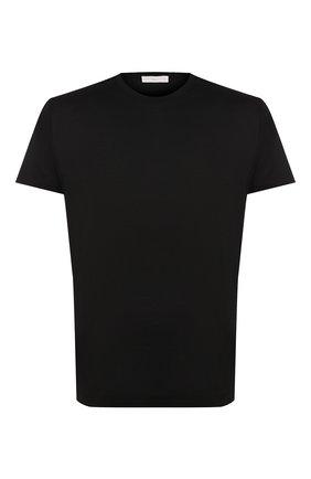 Мужская хлопковая футболка DANIELE FIESOLI черного цвета, арт. DF 0612 | Фото 1
