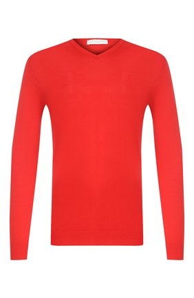 Мужской хлопковый пуловер DANIELE FIESOLI красного цвета, арт. DF 0300 | Фото 1