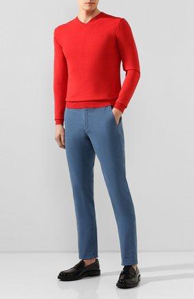 Мужской хлопковый пуловер DANIELE FIESOLI красного цвета, арт. DF 0300 | Фото 2