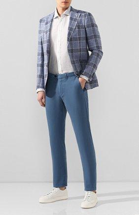 Мужская льняная рубашка 120% LINO светло-серого цвета, арт. R0M70FG/E908/S00 | Фото 2