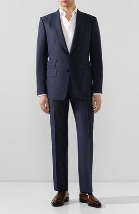 Мужской костюм TOM FORD синего цвета, арт. 717R40/21AA43 | Фото 1