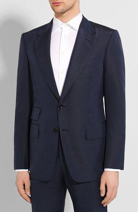 Мужской костюм TOM FORD синего цвета, арт. 717R40/21AA43 | Фото 2
