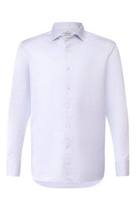 Мужская сорочка из смеси хлопка и льна VAN LAACK голубого цвета, арт. RAND0-TFN/150051 | Фото 1