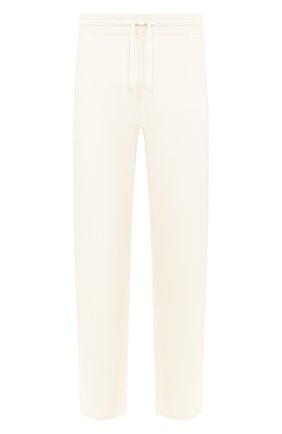Мужской брюки из кашемира и шелка JIL SANDER белого цвета, арт. JPUQ751515-MQY11028 | Фото 1
