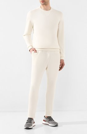 Мужской брюки из кашемира и шелка JIL SANDER белого цвета, арт. JPUQ751515-MQY11028 | Фото 2