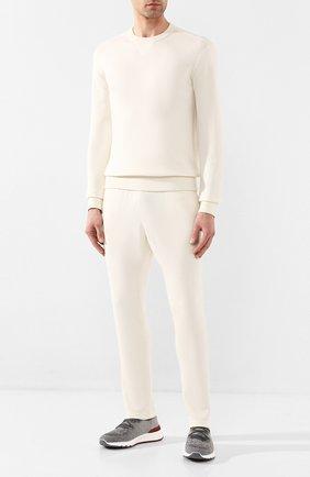 Мужской джемпер из кашемира и шелка JIL SANDER белого цвета, арт. JPUQ751514-MQY11028 | Фото 2