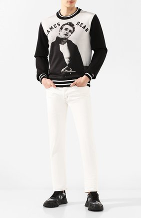 Мужской хлопковый свитшот DOLCE & GABBANA черного цвета, арт. G9QI1T/FI7N0   Фото 2