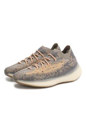 Мужские кроссовки yeezy boost 380 mist ADIDAS ORIGINALS серого цвета, арт. FX9764 | Фото 1
